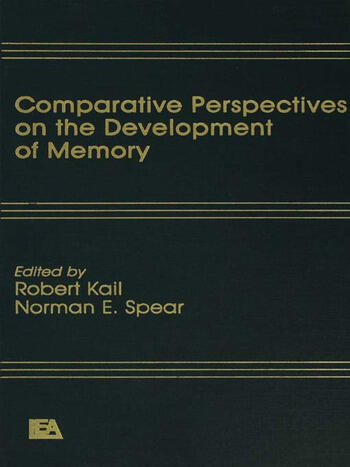 Comparative Perspectives on the Development of Memory book cover
