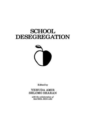 School Desegregation Cross-cultural Perspectives book cover
