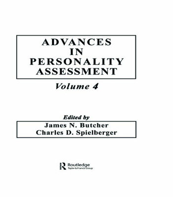 Advances in Personality Assessment Volume 4 book cover