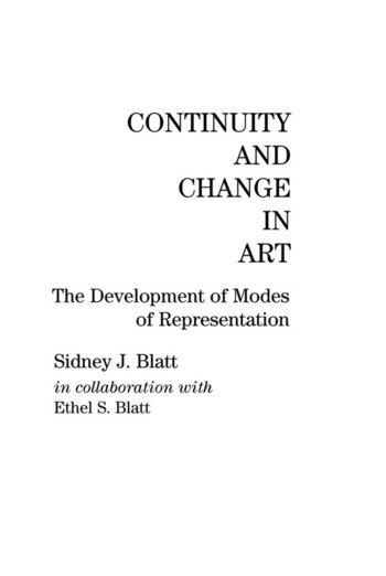 Continuity and Change in Art The Development of Modes of Representation book cover