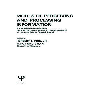 Modes of Perceiving and Processing Information book cover