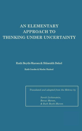 An Elementary Approach To Thinking Under Uncertainty book cover
