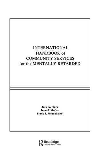 International Handbook of Community Services for the Mentally Retarded book cover