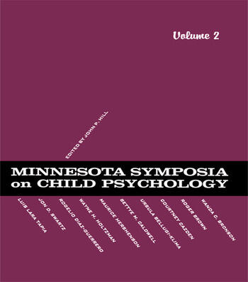 Minnesota Symposia on Child Psychology Volume 2 book cover