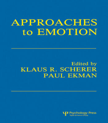 Approaches To Emotion book cover