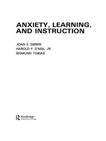 Anxiety, Learning, and Instruction book cover
