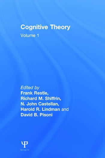 Cognitive Theory Volume 1: Cognitive Theory book cover