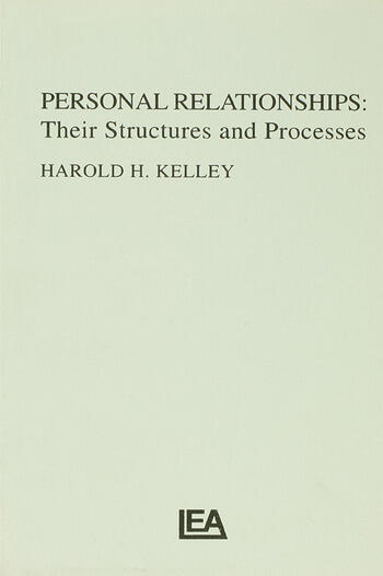 Personal Relationships Their Structures and Processes book cover
