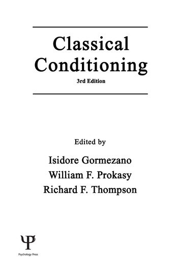 Classical Conditioning book cover