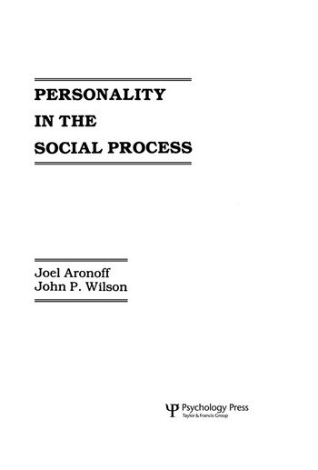 Personality in the Social Process book cover