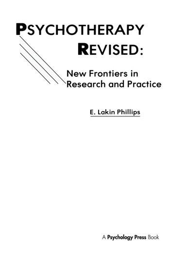 Psychotherapy Revised New Frontiers in Research and Practice book cover
