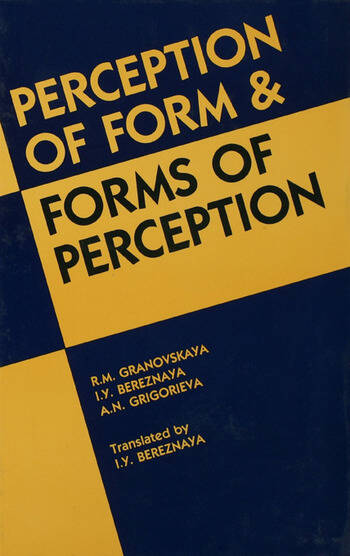 Perception of Form and Forms of Perception book cover