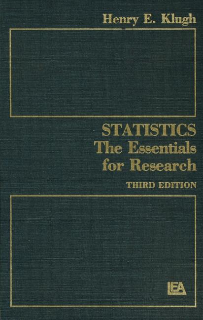 Statistics The Essentials for Research book cover