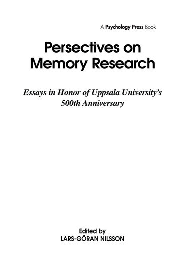 Perspectives on Learning and Memory book cover