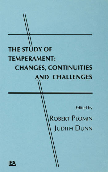 The Study of Temperament Changes, Continuities, and Challenges book cover