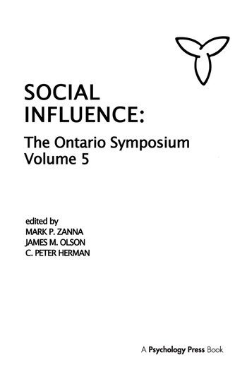 Social Influence The Ontario Symposium, Volume 5 book cover