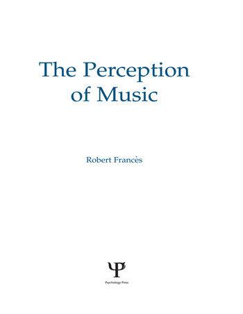 The Perception of Music book cover