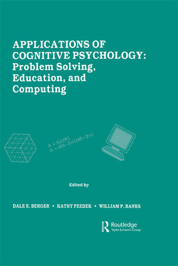Applications of Cognitive Psychology Problem Solving, Education, and Computing book cover