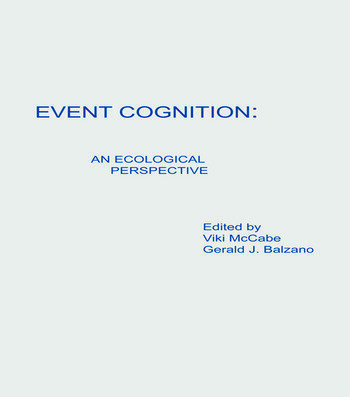 Event Cognition An Ecological Perspective book cover