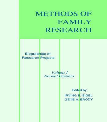 Methods of Family Research Biographies of Research Projects book cover