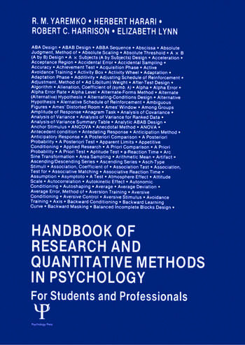 Handbook of Research and Quantitative Methods in Psychology For Students and Professionals book cover