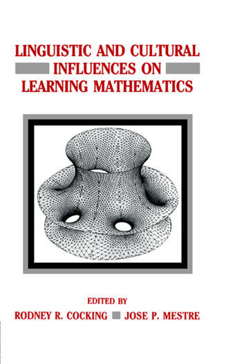 Linguistic and Cultural Influences on Learning Mathematics book cover