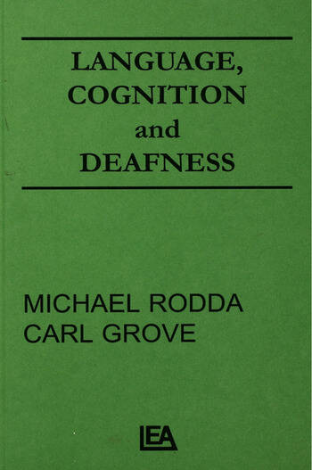 Language, Cognition, and Deafness book cover