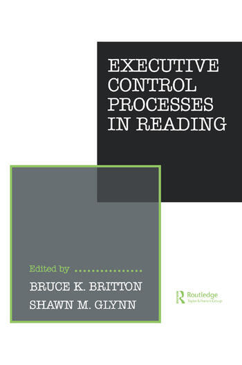 Executive Control Processes in Reading book cover