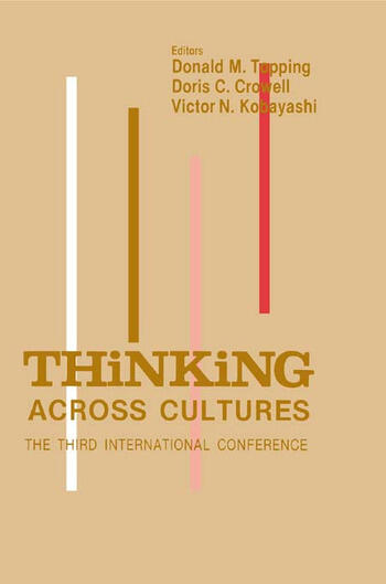 Thinking Across Cultures The Third International Conference on Thinking book cover