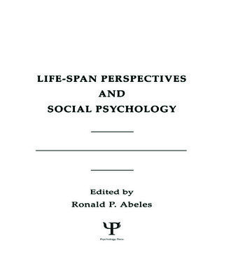 Life-span Perspectives and Social Psychology book cover