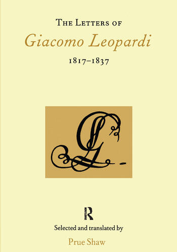 The Letters of Giacomo Leopardi 1817-1837 book cover