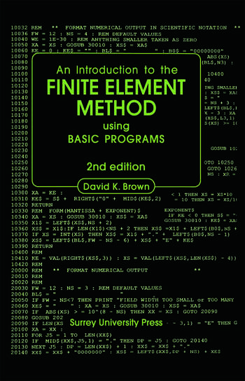 Introduction to the Finite Element Method using BASIC Programs book cover