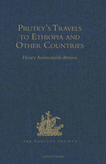 Prutky's Travels to Ethiopia and Other Countries book cover