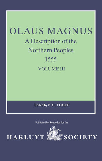 Olaus Magnus, A Description of the Northern Peoples, 1555 Volume III book cover
