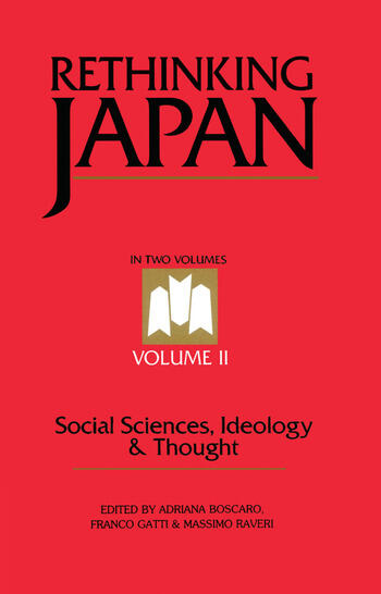 Rethinking Japan Vol 2 Social Sciences, Ideology and Thought book cover
