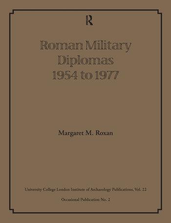 Roman Military Diplomas 1954 to 1977 book cover