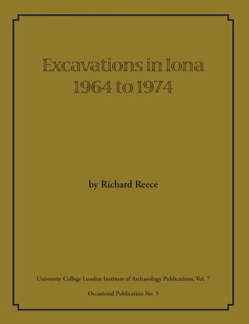 Excavations in Iona 1964 to 1974 book cover