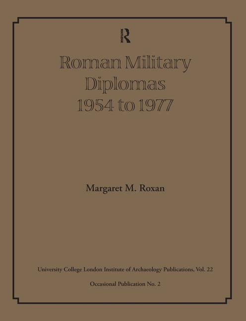 Roman Military Diplomas 1978 to 1984 book cover
