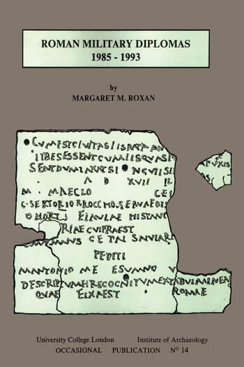 Roman Military Diplomas 1985 to 1993 book cover