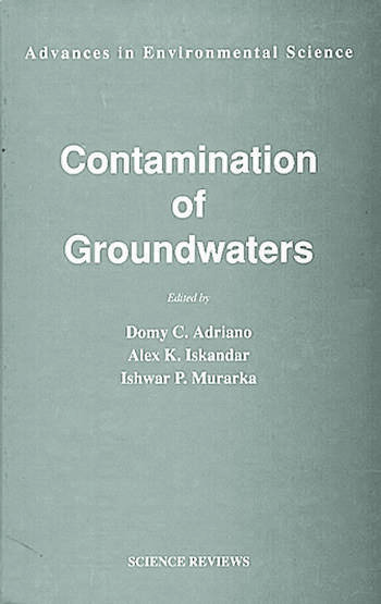 Contamination of Groundwaters book cover