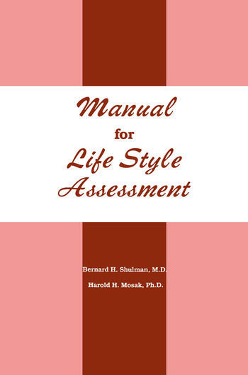 Manual For Life Style Assessment book cover