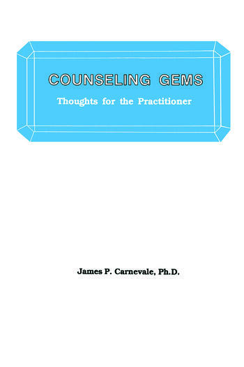 Counseling Gems Thoughts For The Practitioner book cover