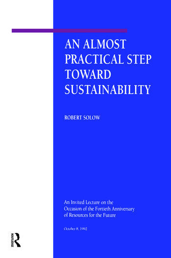 An Almost Practical Step Toward Sustainability book cover