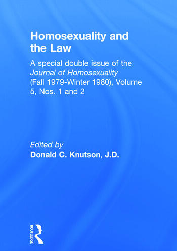 Homosexuality and the Law book cover