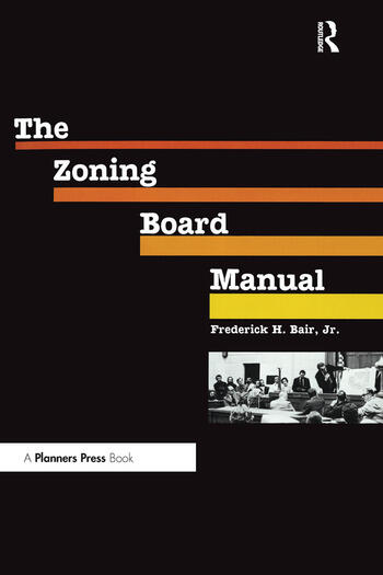 Zoning Board Manual book cover