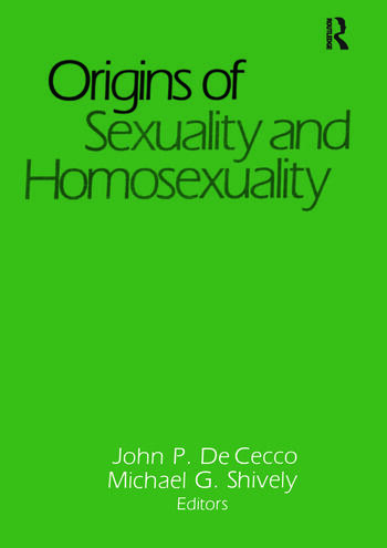 Origins of Sexuality and Homosexuality book cover
