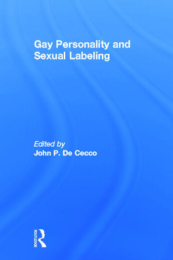 Gay Personality And Sexual Labeling Critical Clinical Issues book cover