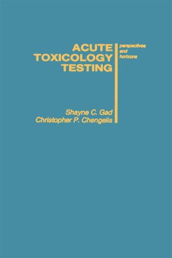 Acute Toxicology Testing Perspectives and Horizons book cover