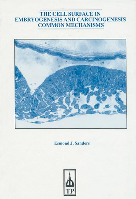 Cell Surface In Embryo Genesis Carcinogenesis book cover