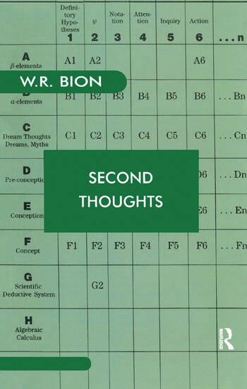 Second Thoughts Selected Papers on Psychoanalysis book cover